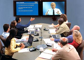 Contoh ruangan konferensi video