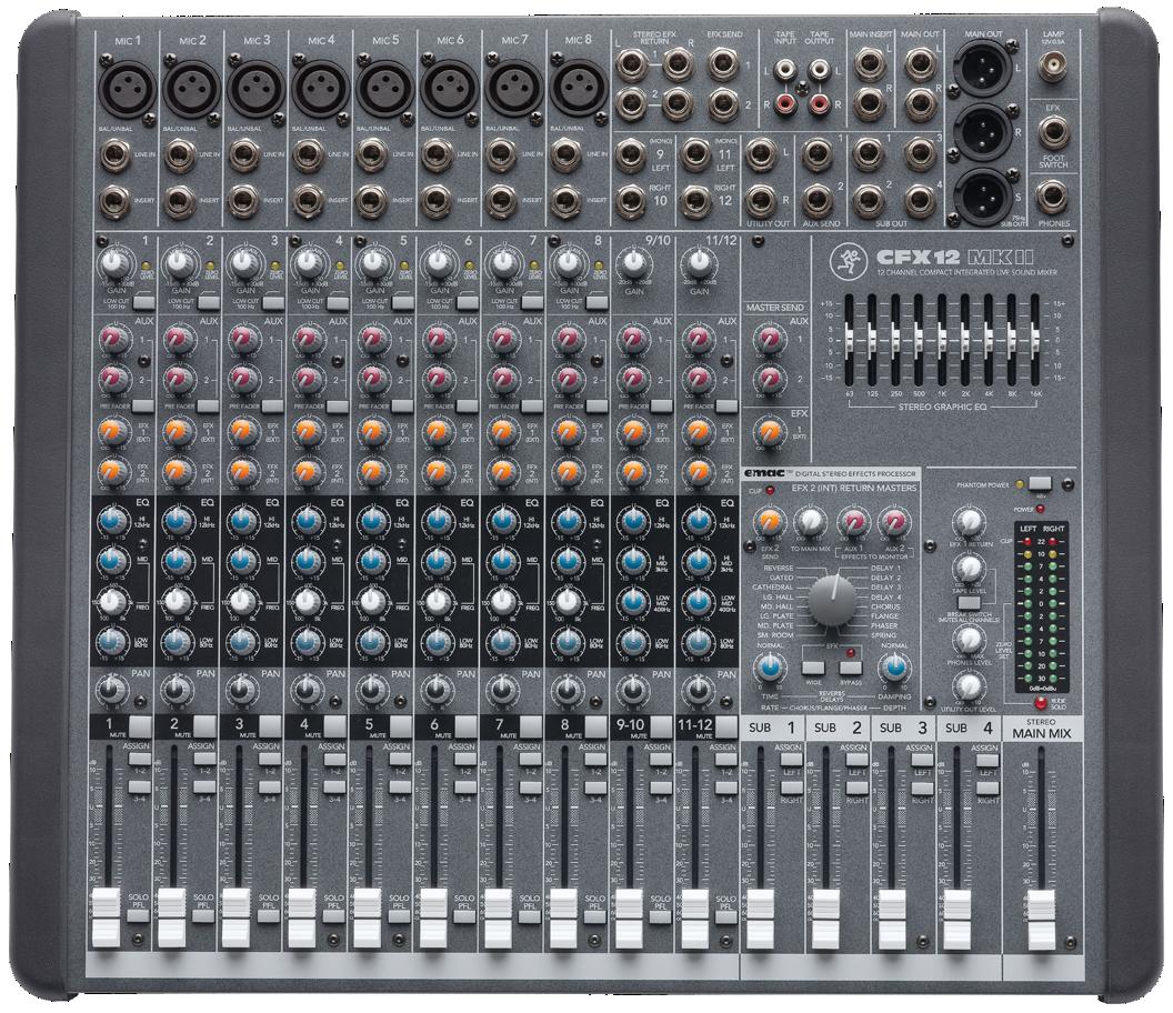 Mackie pro mixer sound system ruangan rapat