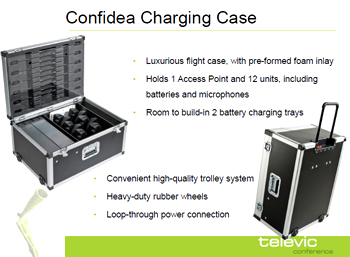 Televic confidea charging case