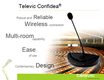 Televic confidea chairman and delegate unit