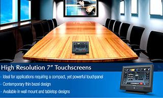 Remote monitor sentuh di ruangan rapat