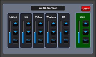 Remote monitor sentuh, kontrol volume sound system