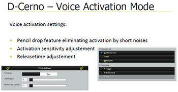 Televic Dcerno voice activation