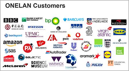 Onelan CMS Digital Signage konsumen Internasional