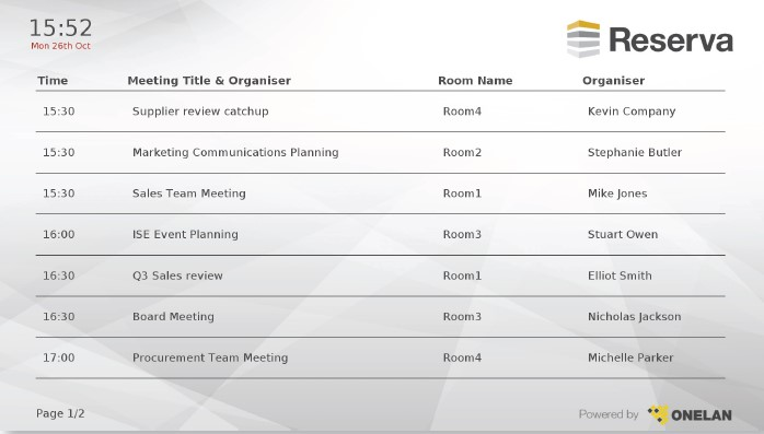 Meeting Room Digital Signage Summary