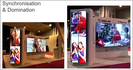 Onelan cms digital signage tampilan monitor videowall