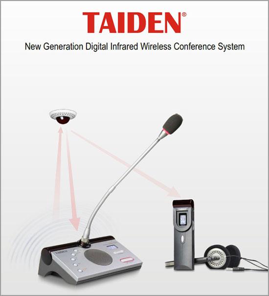Taiden Sound System rapat Wireless