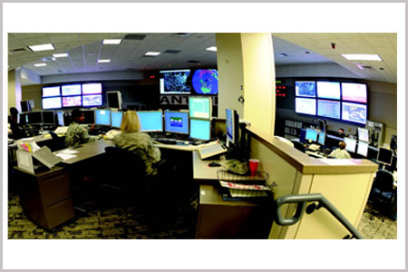video wall control room